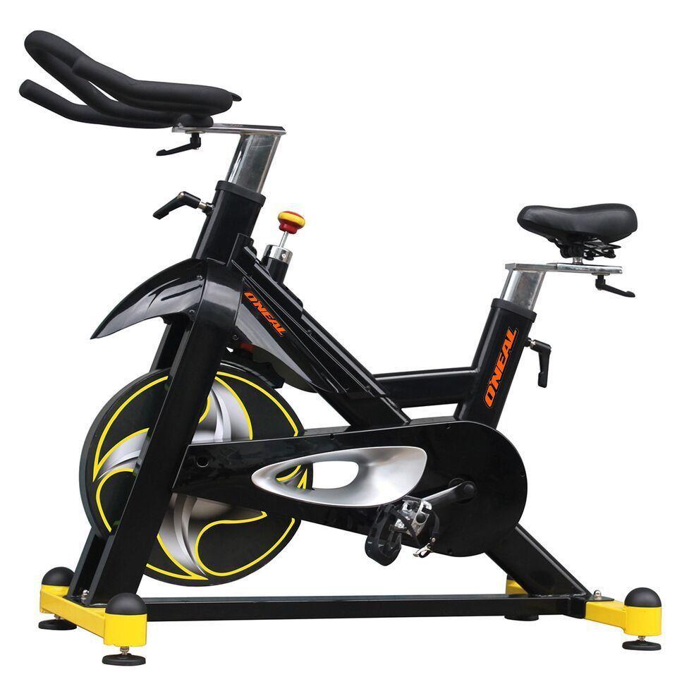Spinning Bike Oneal TP8000 Uso Acad/Cond Peso Flywheels 20kg - Preto com Amarelo