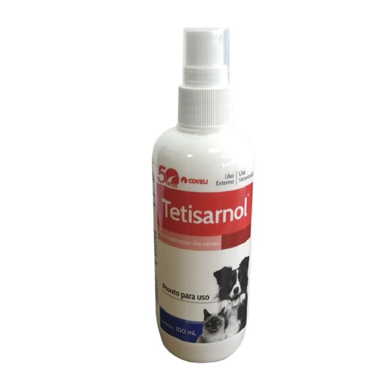 Spray para Tratamento Contra Sarna Tetisarnol para Cães e Gatos - 100mL - Coveli