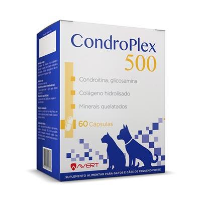 Suplemento Nutricional CondroPlex 500 para Cães e Gatos - 60 Cápsulas - Avert