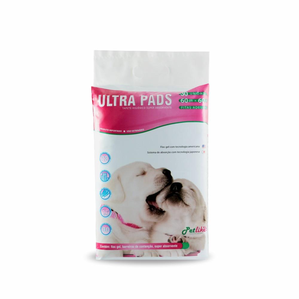 Tapete Higiênico Ultra Pads para Cães - 60x60cm - 30 unidades - PetLike