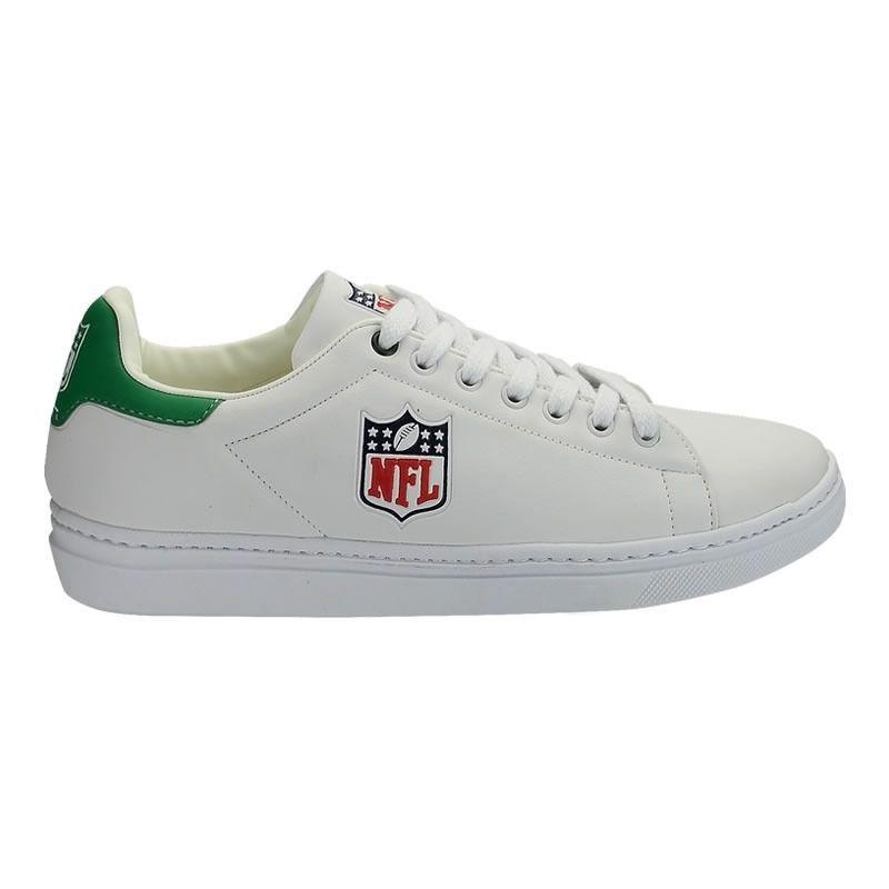 Tênis Sapatenis Sintetico Anti Aderente NFL Branco/Verde