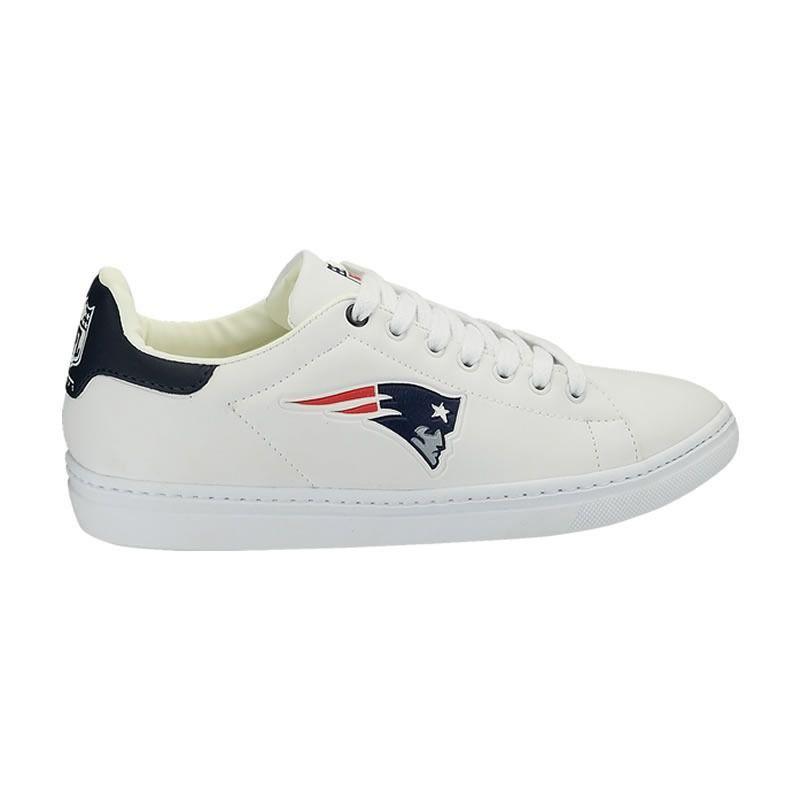 Tênis Sapatenis Sintetico New England Patriots NFL Branco/Marinho