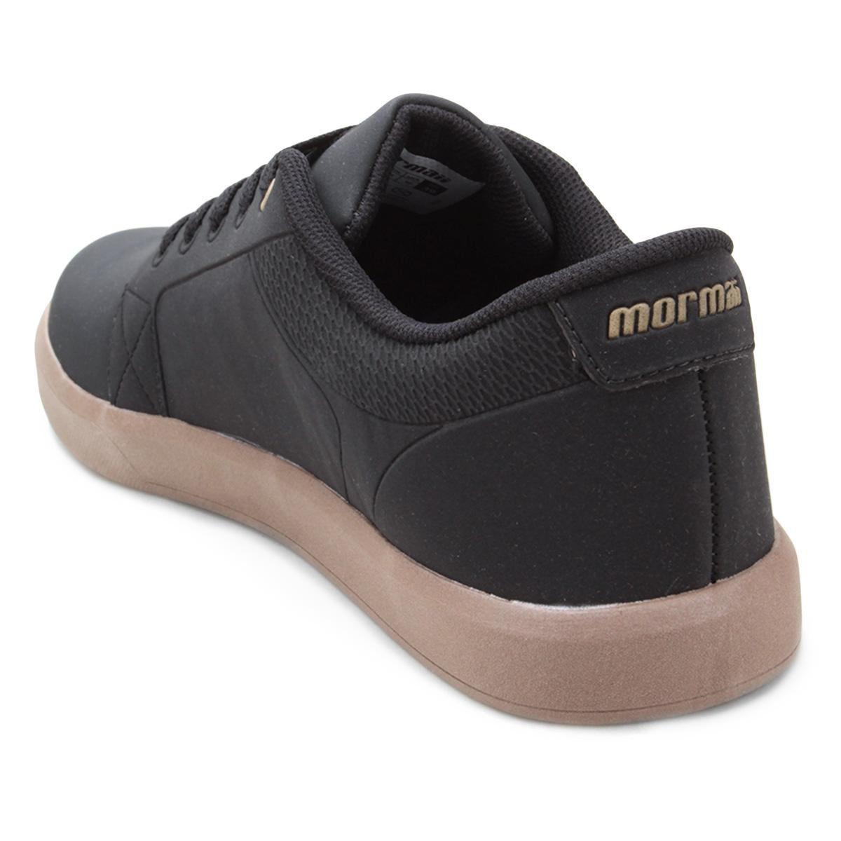 Tênis Urban Preto c/ Marrom Confortável e Resistente Mormaii