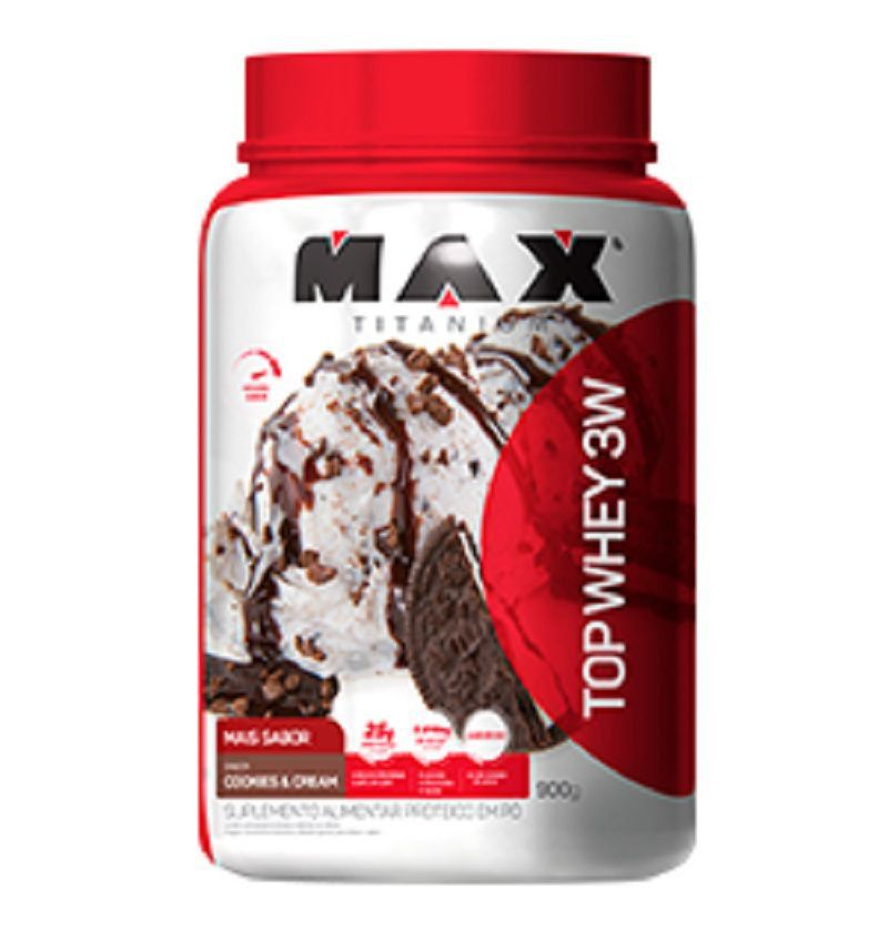 Top Whey 3W Mais Sabor 900g - Max Titanium