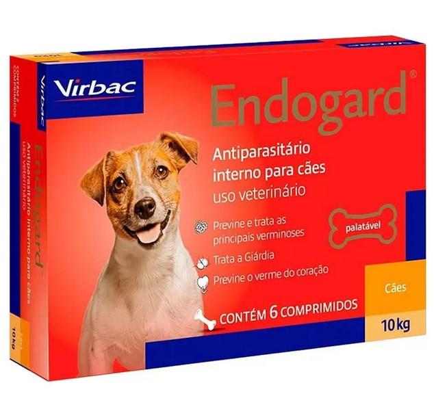 Vermífugo Endogard para Cães - 10Kg - Caixa com 6 Comprimídos - Virbac