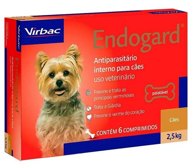 Vermífugo Endogard para Cães - 2,5Kg - Caixa com 6 Comprimídos - Virbac