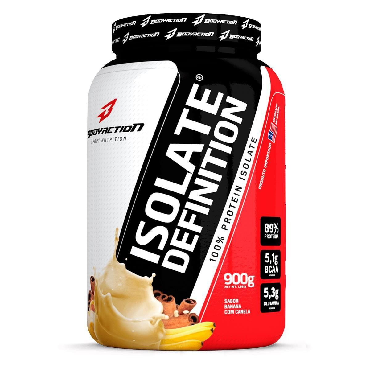 Whey Protein Isolate Definition 89% Proteína 900g BodyAction