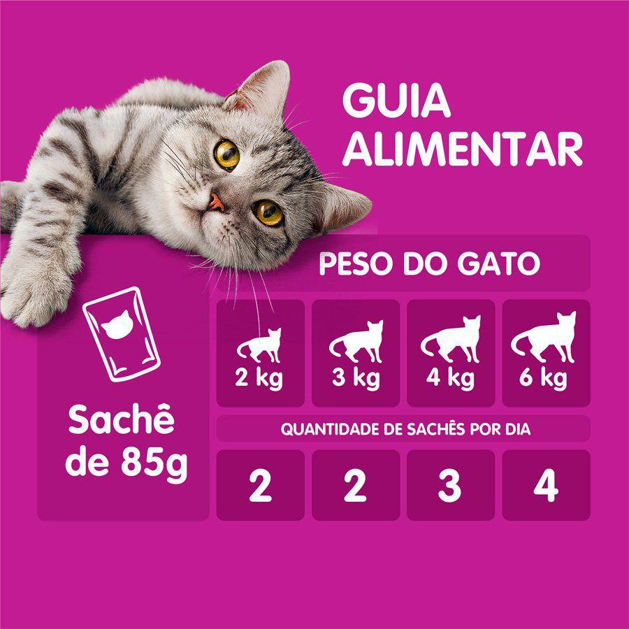 10 X Ração Whiskas Sachê Sabor Atum Para Gatos Adultos 85gr