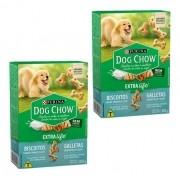 Biscoito Para Cães Filhotes Dog Chow Integral Junior 300gr kit com 2 unidades