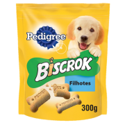 Biscoito Pedigree Biscrok Junior  Cães Filhotes  300g 2 unid