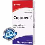 Coprovet 20 Comprimidos | Anticoprofágico Para Cães E Gatos