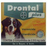Drontal 35 kgs sabor carne com 2 comprimidos