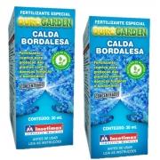 Fertilizante adubo  calda bordalesa calda max   kit com 2 unidades com 30 ml cada