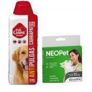 Neopet Ourofino Para CÃES ATÉ 10 Kg.+ shampoo pro canine