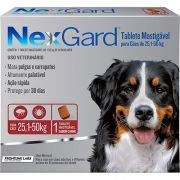 Nexgard cães De 25 A 50 Kgs caixa Com 3 Unidades