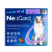 Nexgard  spectra  15 à 30 produto original comprimido carrapato pulga verme e sarna