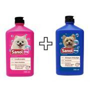 Shampoo Sanol  anti pulgas  + Condicionador Sanol