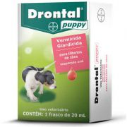 Vermífugo Drontal Puppy Suspensão 20ml Bayer Trata Giardia