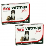 Vermífugo Vetmax Plus Comprimido caixa com 4 comprimidos combo com 2 caixas