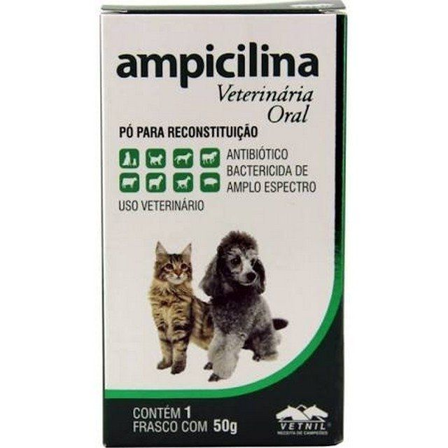 Ampicilina Oral Vetnil   Cão E Gato