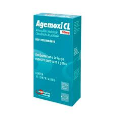 Agemoxi Cl 10 Comprimidos - 50 Mg  Antibiótico Agener União