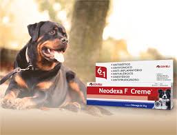 Antibiótico creme Ferimentos Neodexa Para Cães Gatos 15 gramas