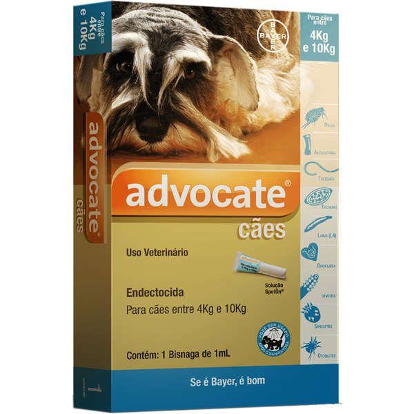 Antipulgas Advocate Para Cães Entre 4 E 10kg  Trata Sarna