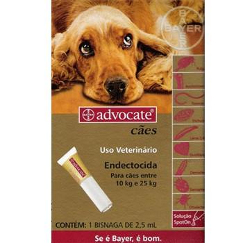 Antipulgas Bayer Advocate Cães De 10 - 25 Kg Trata Sarna