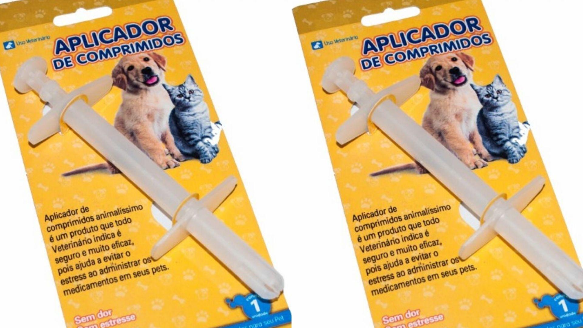 Aplicador de comprimidos para cães e gatos 2 unidades