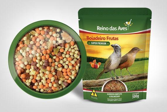 Boiadeiro Fibra Frutas Reino Das Aves Com 2 Unidades