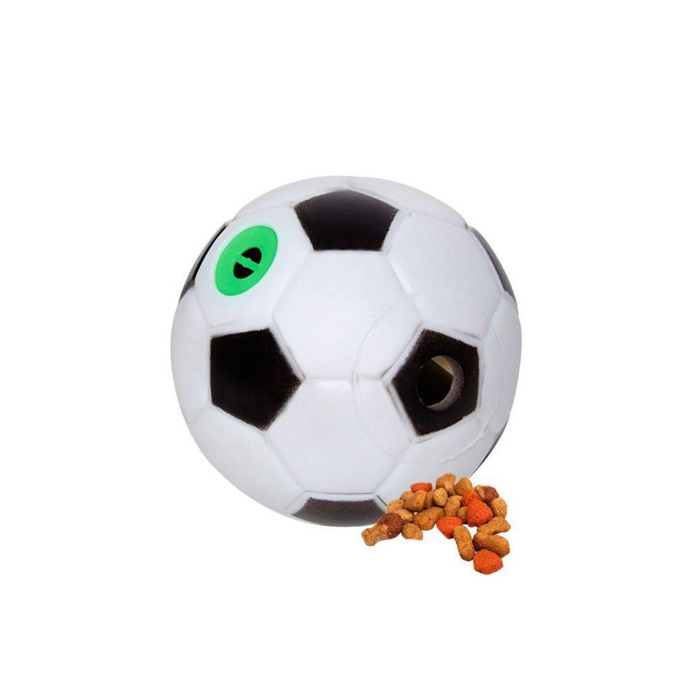 Bola Porta ração Cachorro Gato Petisco C/ Som futebol