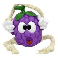 Brinquedo para cachorro com corda uva feliz LINDO BRINQUEDO