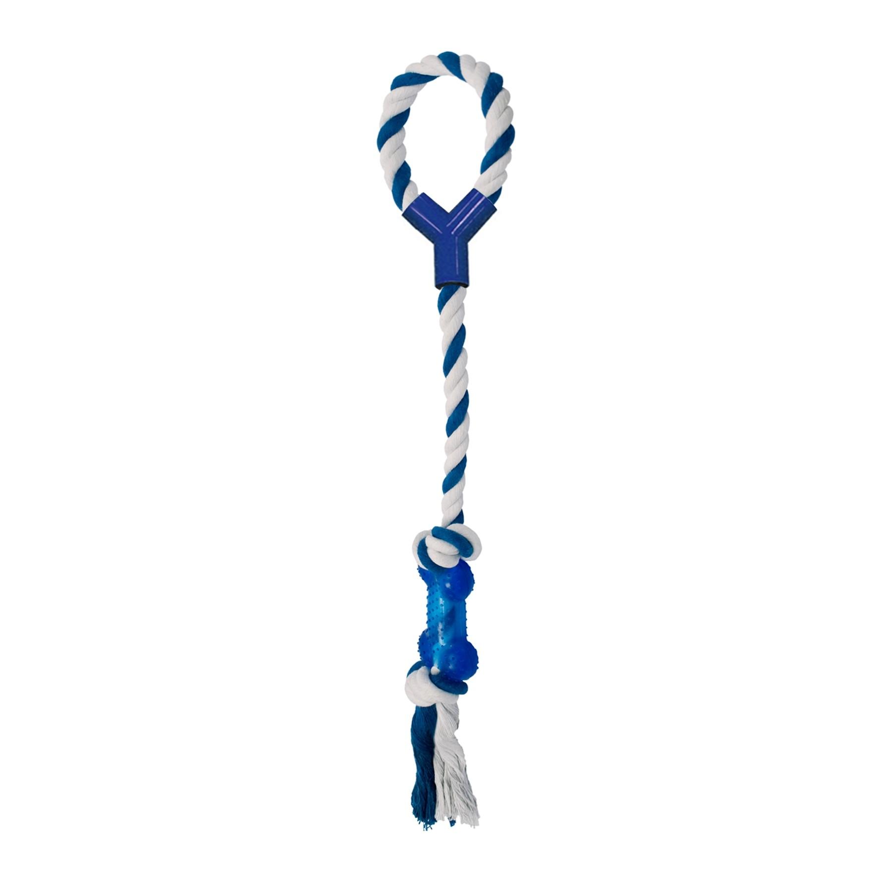Brinquedo Para Cães Corda C/ Puxador Ossinho Cabo De Guerra