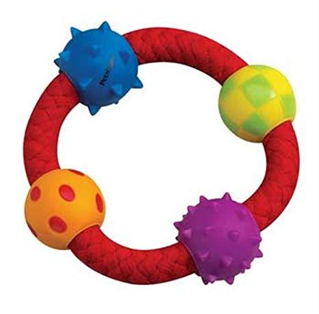 Brinquedo para cão porte pequeno com bolas e corda