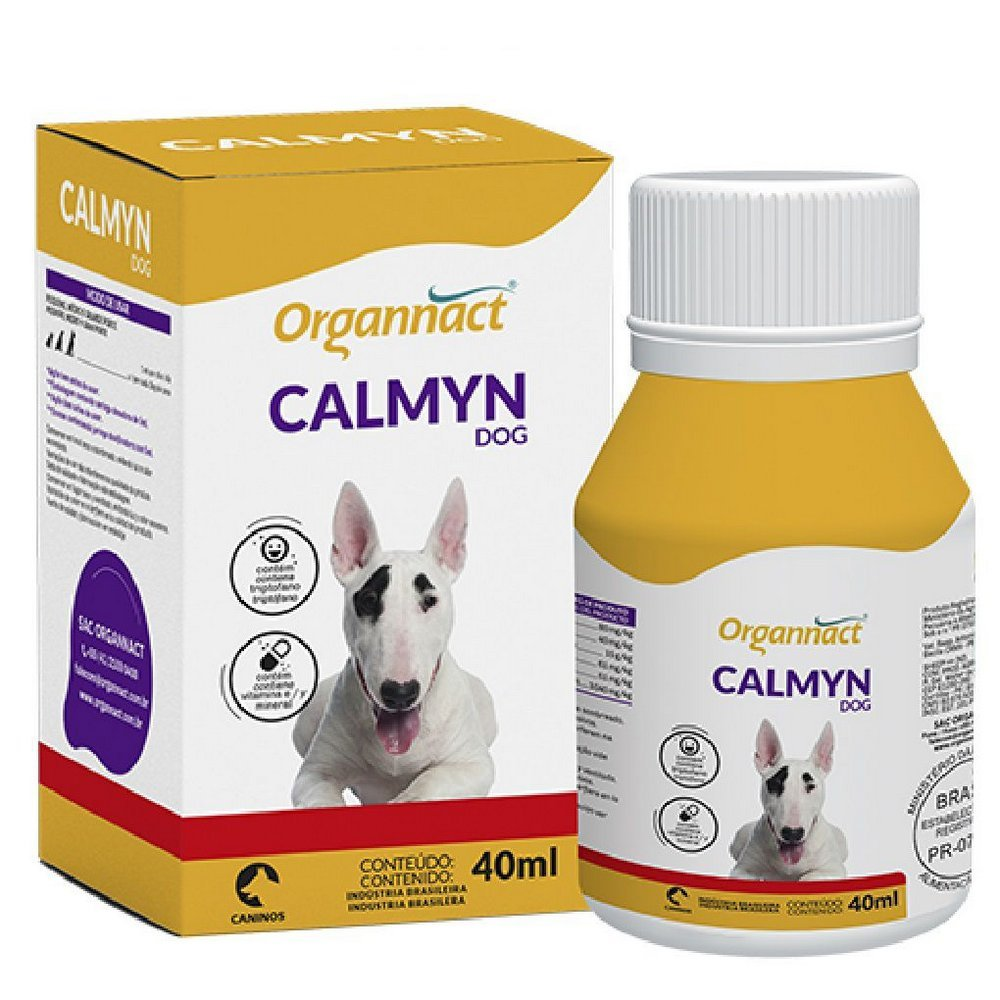 Calmyn Dog Organnact 40 Ml Age Com Calmante  Para Cães