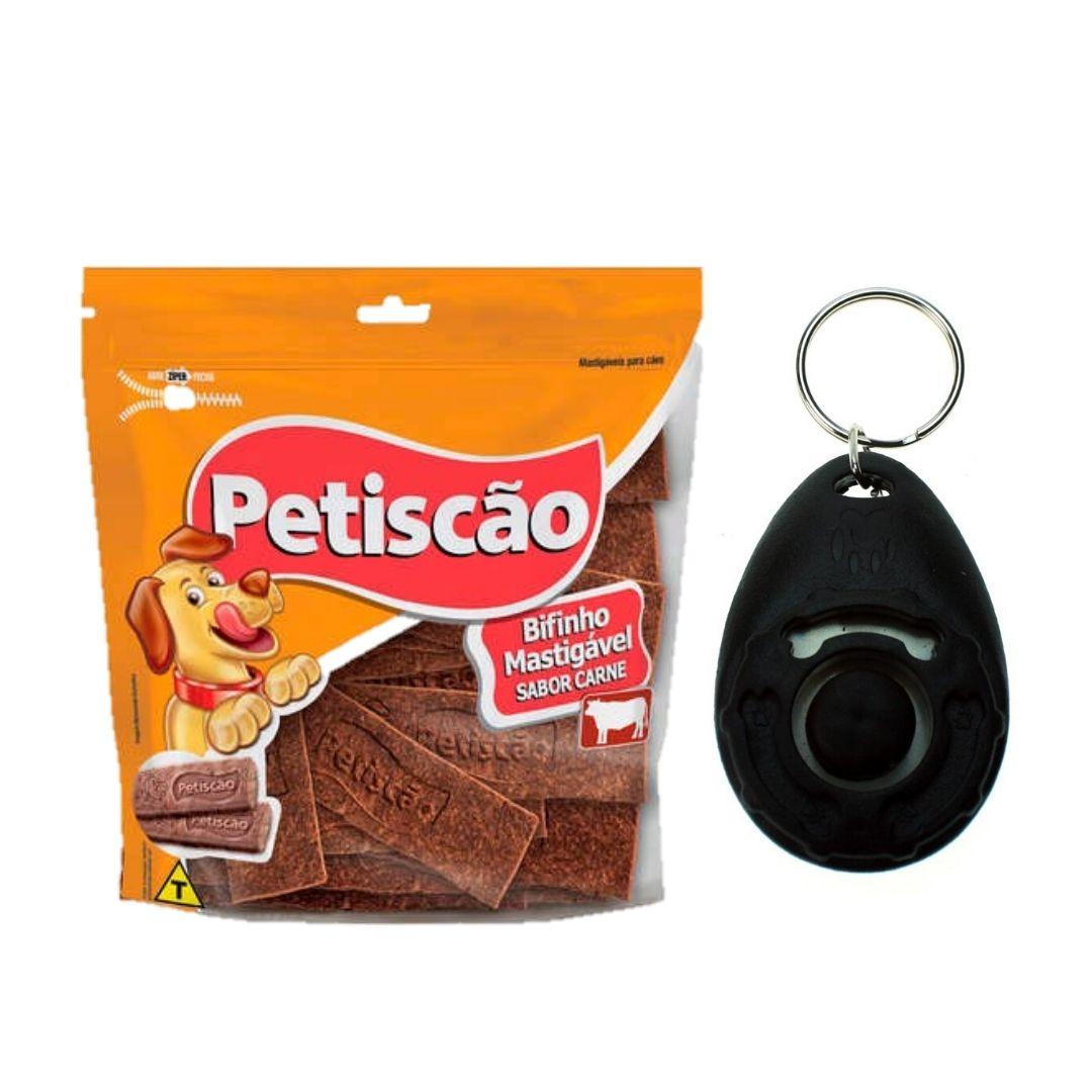 Clicker Adestramento  para cães mais uma pacote de bifinho com 500 gramas