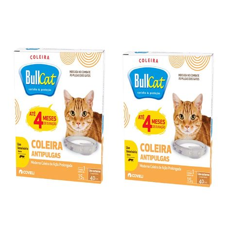 Coleira Bullcat Anti Pulgas Para Gatos Coveli kit com  2 unidades