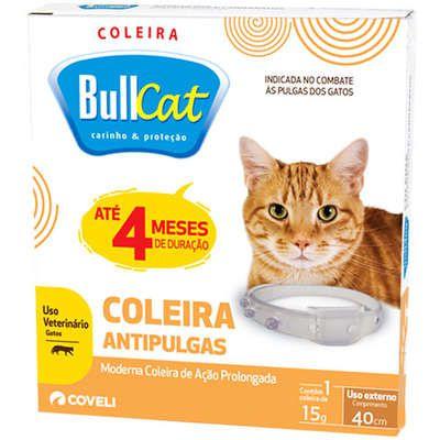Coleira Bullcat Anti Pulgas Para Gatos Coveli 40cm 4 Meses