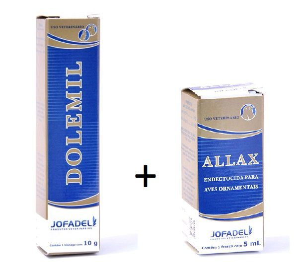 Combo Sarnicida Dolemil Pomada 10g + Allax 5ml Jofadel