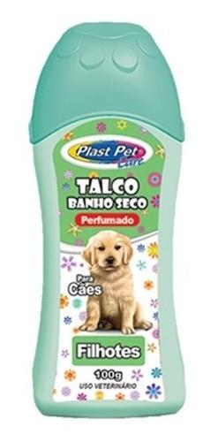 CÓPIA - Kit Com 1 Lenço Umedecido Para Cão Filhote + um Banho A Seco da pro canine + um talco perfumado
