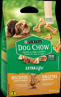 Dog Chow Carinhos Mini Biscoito 1kg - Caixa Com 2 Pacotes