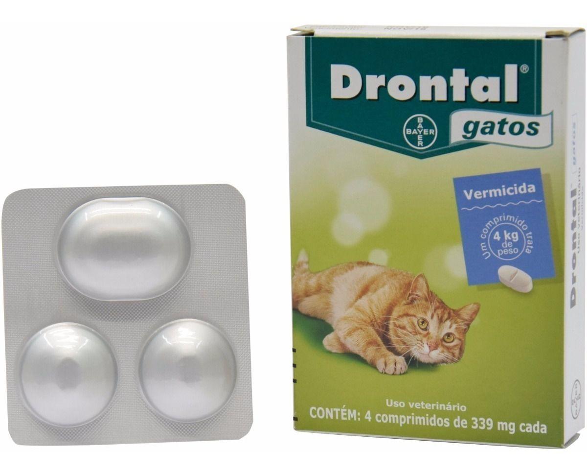 Drontal Gatos - 4 Comprimidos Vermífugo