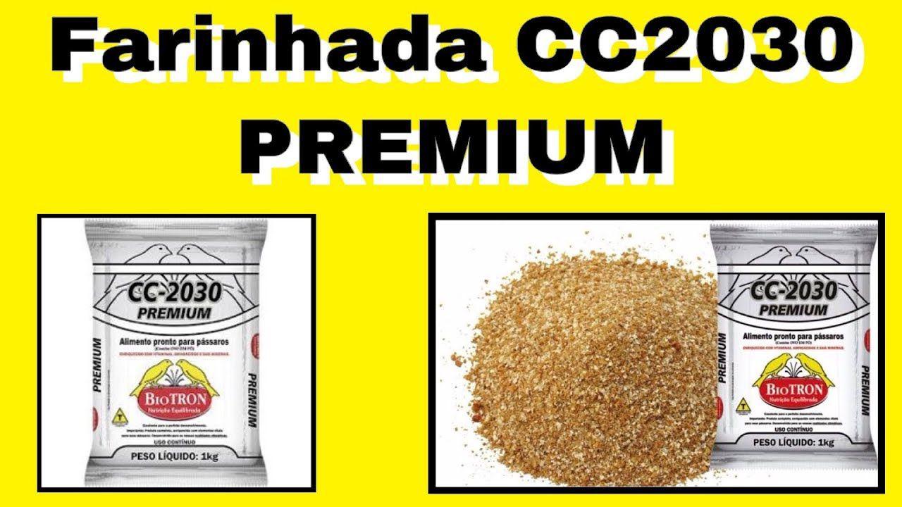Farinhada Cc-2030 Premium 1kg - Biotron Alimento P/ Pássaros