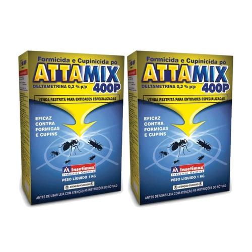 Attamix Formicida e cupinicida em pó kit com 2 unidades com 1 kg cada