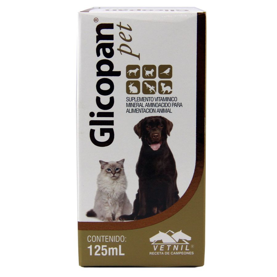 Glicopan Pet  complexo vitamínico cão e gato 125 ml