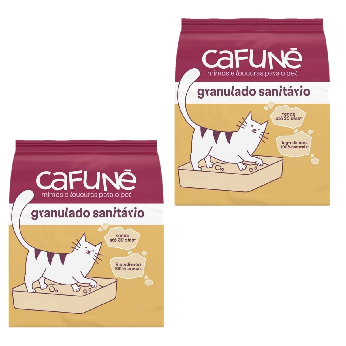 granulado higienico para gato cafune combo com 2 unidades