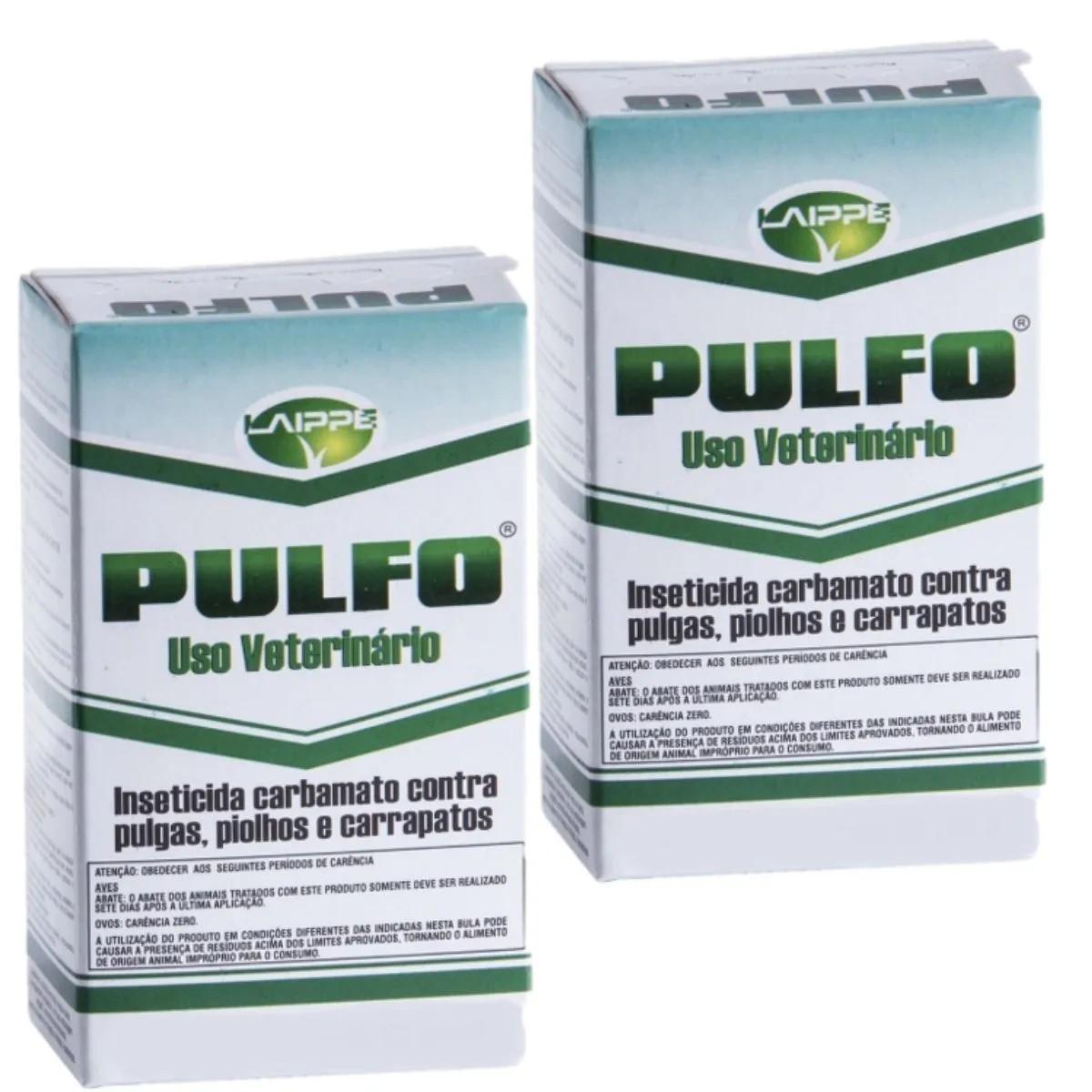 Inseticida Pulfo Antipulgas, Piolhos e Carrapatos combo com 2 unidades