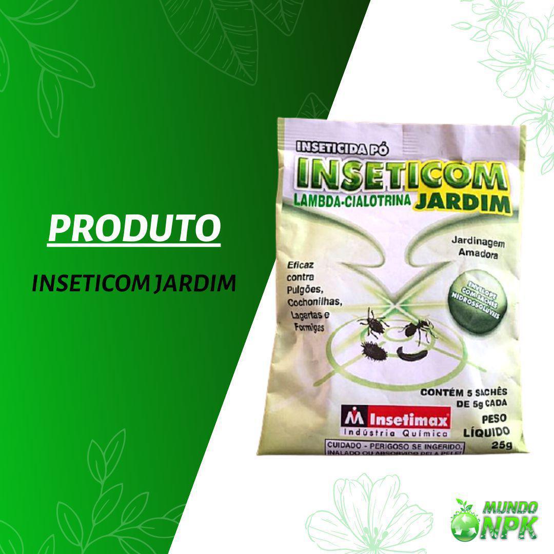 Inseticom inseticida po a base de lambda-cialotrina contem 2 unidades com 5 sachês de 25 gramas cada