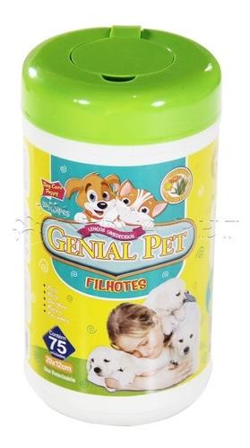 Kit Com 1 Lenço Umedecido Para Cão Filhote + um Banho A Seco da pro canine + um talco perfumado
