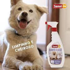 Kit Com 2 Lenços Umedecido Para Cão Filhote + um Banho A Seco da Sanol